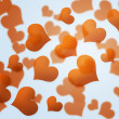 Stock Photo: Gold Hearts Background