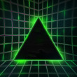 Stock Photo: Green Cyber Punk Background