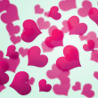 Stock Photo: Pink Hearts Background