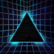 Stock Photo: Blue Cyber Punk Background