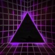 Stock Photo: Violet Cyber Punk Background