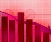 Contexte de crise économique rouge — Photo