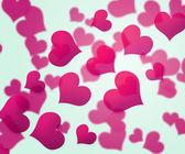 Rosa Herzen Hintergrund — Stockfoto