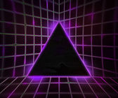 Violet Cyber Punk Background — Stock Photo