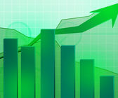 Green Economic Growth Background — Stock Photo