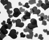 Black Hearts Background — Stock Photo