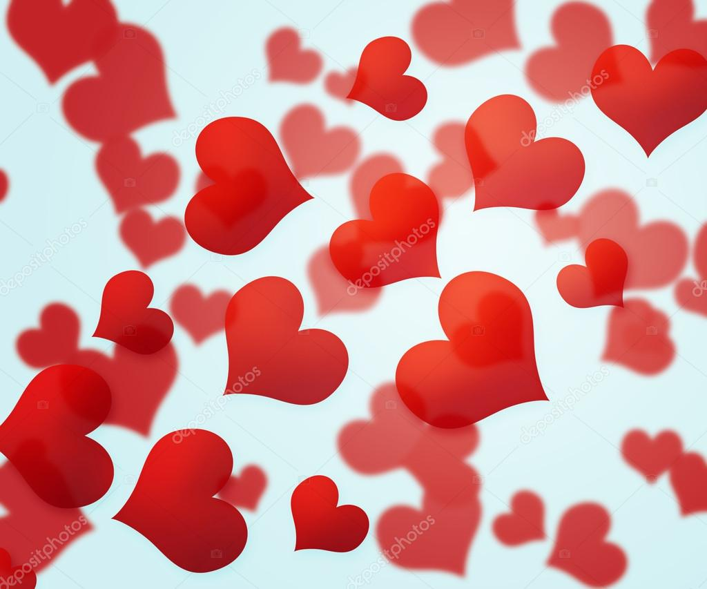Red Hearts Background — Stock Photo #13945343