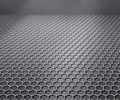 Perspective Metal Texture Stage Background — 图库照片