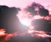 Zon hemelachtergrond wolk stadium — Stockfoto