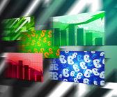 Wirtschaftliche stream-hintergrund — Stockfoto