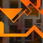 Orange Background Shapes — Stock Photo #15703095