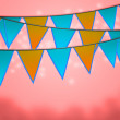 Carnival Flags Background — Stock Photo