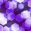 Stock Photo: Violet Hex Bokeh Background
