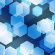 Stock Photo: Blue Hex Bokeh Background