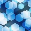 Blue Hex Bokeh Background — Stock Photo #15787255