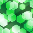 Stock Photo: Green Hex Bokeh Background