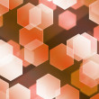 Stock Photo: Orange Hex Bokeh Background