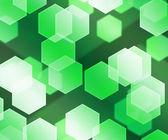 Green Hex Bokeh Background — Foto Stock