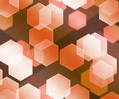 Orange Hex Bokeh Background — Stock Photo