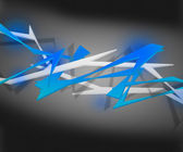 Blue Spiky Abstract Background — Stock Photo