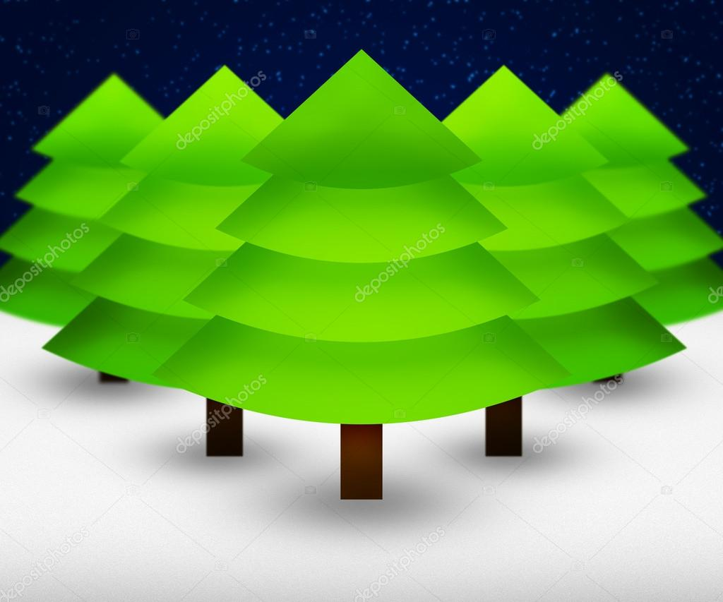 Christmas Trees Background — Stock Photo #16253135