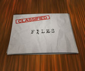 Classified Files on the Table — Stockfoto
