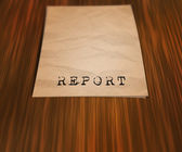 Report on the Table — Stock Photo