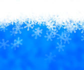 Blue abstract snow achtergrond — Stockfoto