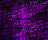 Violet Numbers Abstraction Background — Stock Photo
