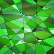 Green Stained Glass Texture — Stock Photo