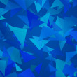 Blue Triangle Abstract Background - Stock Photo