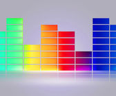 Equalizer Music White Background — Stock Photo