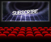 Cinema Hall Background Subscribe — Stock Photo