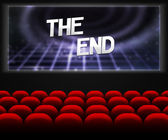 Cinema The End Background — Stock Photo