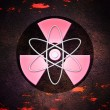 Red Atom Radioactive Background — Stock Photo