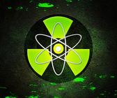 Green Atom Radioactive Background — Stock Photo