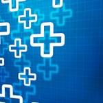 Medical Cross Blue Background — Stock Photo
