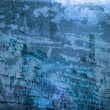 Blue Grunge Urban Wall Background — Stock Photo