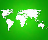 Green World Map Background — Stock Photo