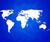 Blue World Map Background — Stock Photo