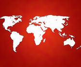 Red World Map Background — Stock Photo