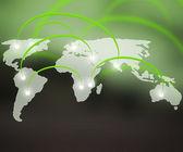 World Network Green Background — Stock Photo