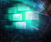 E-mail Computer Science Abstract Background — Stock Photo
