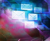 Computer Science Mail Abstract Background — Stock Photo