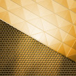Golden Metal Background — Stock Photo