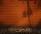 пустой оранжевый кирпичный двор фон — Стоковое фото