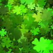 Green Clover Texture Background — Stock Photo
