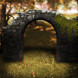 Stock Photo: Stone Arch Premade Background