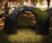 Stone Arch Premade Background — Stock Photo