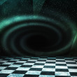 Black Hole Abstract Stage Background — Stock Photo